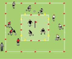 Fun Soccer Games For 9 to 11 Year Olds - Soccer Coach Weekly Fun Soccer Drills, Fun Soccer Games, Football Coaching Drills, Soccer Training Drills, Soccer Skills, Soccer Sports, Nike Soccer, Soccer Cleats, Barcelona Soccer