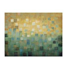 Teal Squares Canvas Art Print