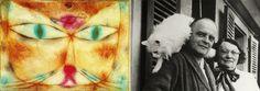 Lily Klee, Paul Klee et son Bimbo de chat. Le travail que nous présentons appelé chat et l'oiseau fait en 1928, est situé dans le Musée d'Art Moderne de New York.