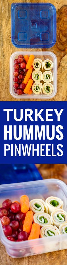 Turkey, provolone cheese & baby spinach on a soft tortilla spread w/ hummus, these turkey hummus pinwheels are a delicious meal prep lunch or snack idea! Wrap Recipes, Lunch Recipes, Appetizer Recipes, Appetizers, Healthy Snacks For Diabetics, Healthy Recipes, Diabetic Snacks, Healthy Food, Healthy Eating