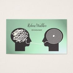 #Psychologist Psychiatrist Doctor Private Clinic Business Card - #office #gifts #giftideas #business