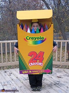 Need a fun costume? Why not go as a box of Crayola Crayons?