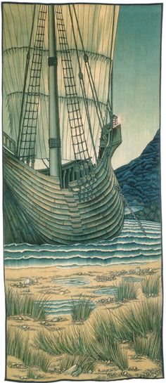 Holy Grail Tapestry: The Ship  William Morris and Co.  1890s