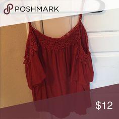 Target off the shoulder blouse Hardly worn target OTS blouse. Size large Xhilaration Tops Blouses