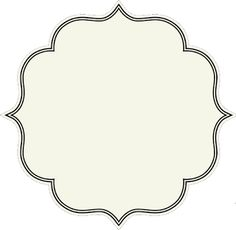 Large gift tag pattern. Use the printable outline for