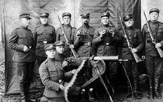 M1917 Browning machine gun . WW I