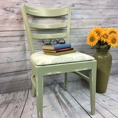 Vintage 1960's library chair makeover.