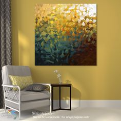 """Room Inspiration- When Our Life Appears. Colossians 3:4. Limited Edition Modern Christian Art Signed by Mark Lawrence. Inspiring big 54""""x54"""" art on canvas. Ultra hand embellished"""