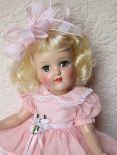 """~ """"Toni"""" Doll ~ (1950's)  This was my very favorite doll…..Next came Tiny Tears doll but Toni was the very best."""