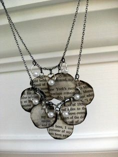Crafty Goodness / diy book page necklace