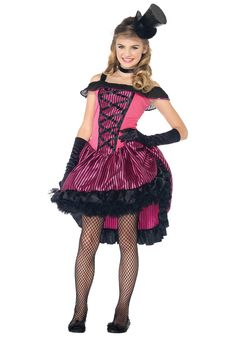 Halloween Costumes For Teenage Girls | Teen Can Can Girl Costume - Wild West Costumes for Teens