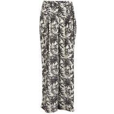 Vero Moda Women's Nia Beach Trousers - Snow White (2,140 PHP) ❤ liked on Polyvore