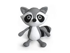 Raccoon softie pattern PDF sewing toys by DIYFluffies on Etsy