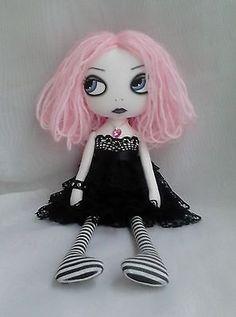 OOAK Gothic Art Rag Doll - Lolita in Dolls & Bears, Dolls, Clothing & Accessories, Rag & Cloth Dolls | eBay
