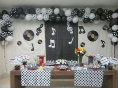 Decoração festa de aniversário anos 60