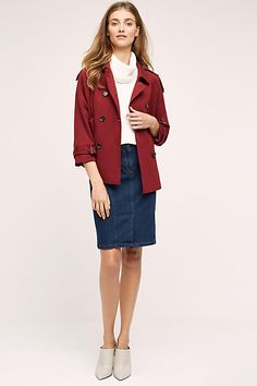Cropped Swing Trench - anthropologie.com