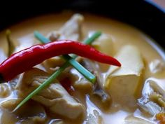 Tom Kha Kai (Chicken in Coconut Milk Soup)Although Tom Kha Kai is another variation of chicken soup, it deserves the No.4 because of its unparalleled taste and popularity. Similar to Tom Yam Kai, the broth is prepared with many types of Thai herbs with the special addition of coconut milk that makes this soup unique.