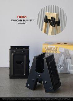 【楽天市場】Fulton Sawhorse Bracket ( Medium Duty ) / フルトン ソーホースブラケット ミディアム デューティー 1set(2個入り) ツーバイ材用 金具 DIY 什器 MADE IN USA detail:interior shop Nia (ニア)