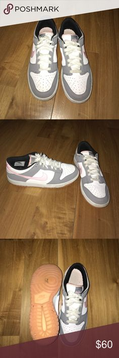 Nike 6.0 Sneakers Original 6.0 Nike Sneakers, white, light pink and grey, barely used Nike Shoes Sneakers
