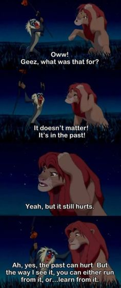The Lion King...my all time favourite Disney movie.