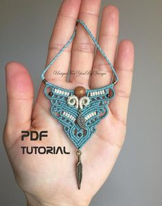 Hippie Chic Pendant Necklace, Tribal Ethnic style jewelry - Micro Macrame Tutorial, Macrame necklace pattern,DIY micro macrame Best Picture For Makeup quotes - Diy Jewelry Rings, Diy Jewelry Unique, Diy Jewelry To Sell, Diy Jewelry Necklace, How To Make Necklaces, Tribal Necklace, Beaded Jewelry, Pendant Necklace, Hippie Jewelry