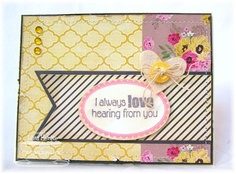 Love Hearing from you....WSC97 sample card using Well Worn Greetings by MFT.