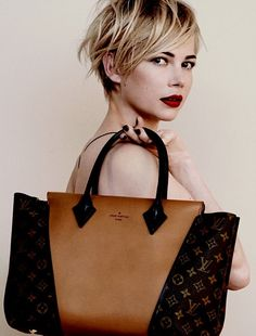 Michelle Williams for Louis Vuitton..she is amazing and Michelle looks beautiful too.
