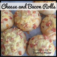 You can't beat homemade Cheese and Bacon Rolls! Spread a little tomato paste down over the risen bread dough, top with cheese and bacon for a pizza style roll. Cheese And Bacon Rolls, Cheese Roll Recipe, Savory Snacks, Lunch Snacks, Savoury Recipes, Bread Recipes, Thermomix Bread, Bellini Recipe, Recipes