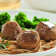 Lemon and rosemary flavor both these turkey meatballs and their velvety-rich sauce. Thyme can be used instead of the rosemary if you prefer. Serve with whole-wheat pasta or mashed potatoes.
