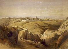 Jerusalem from the Mount of Olives, by David Roberts in 1842 (Library of Congress)