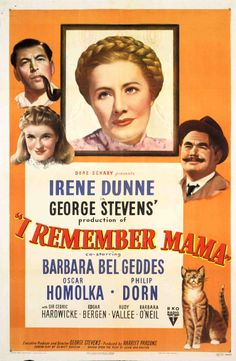 One-sheet poster featuring Irene Dunne as Mama Hansen, Philip Dorn as Papa Hansen, Barbara Bel Geddes as Katrin Hansen, and Oskar Homolka as...