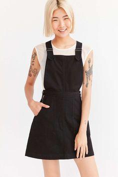 Cooperative Denim A-Line Jumper Mini Dress