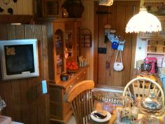 A view from my own dollhouse kitchen