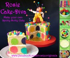 Make your own spotty dotty cake - Rosie Cake diva