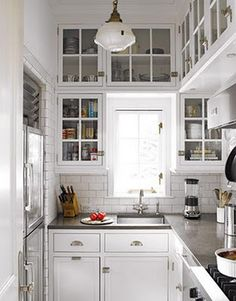 Tiny kitchen. Love the cabinets. by deirdre