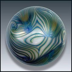 Smyers Glass: Art nouveau design paperweigh
