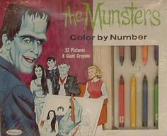 Whitman - The Munsters Color By Number - 1965