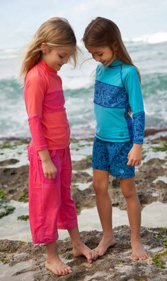 Aqua Sea Life UV SKINZ UPF 50 Girls Beach Shorts