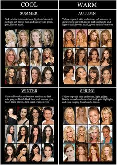 "Find out if you are an ""Autumn,Summer,Spring or Winter."" Skin undertones. What colors do/don't on your complexion."