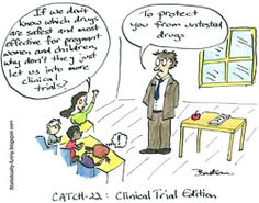 clinical research funny trials catch trial double bind children humor health edition cartoon cartoons drugs pregnant pregnancy flickr statistically tuesday