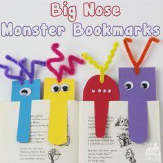Big nose monster bookmarks