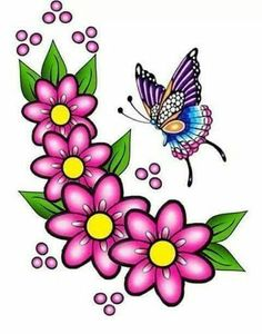 Applique Patterns, Craft Patterns, Beading Patterns, Flower Tattoo Designs, Flower Designs, Flower Images, Flower Art, Quilting Designs, Embroidery Designs