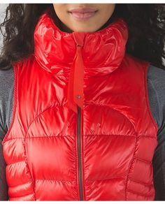 Lululemon   Fall 15   Fluffin Awesome Vest   $168   We designed this water-resistant puffy vest to warm us up without bringing on too much heat. The oversized collar and 800-fill-power goose down make it easy to get cozy. A slim fit means we can wear it easily under a jacket or over our favourite mid-layer.