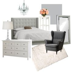 Master Bedroom Plans- Grey, White & Cosey.  home decor and interior decorating ideas.