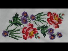 Baby Embroidery, Flower Embroidery Designs, Hand Embroidery Patterns, Baby Knitting Patterns, Beaded Cross Stitch, Cross Stitch Rose, Cross Stitch Flowers, Cross Stitch Embroidery, Cross Stitch Designs