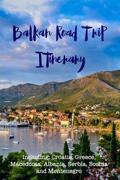Balkans Road Trip Itinerary – Drive on the Left Including: Croatia, Albania… Travel Around Europe, Europe Travel Guide, Travelling Europe, Travel List, Cool Places To Visit, Places To Travel, Travel Destinations, Montenegro, Road Trip Hacks
