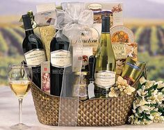 Wine and cheese gift basket, for a new married couple, a housewarming gift, or even Christmas