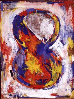 Jasper Johns, Figure 1959 – © Sonnabend Collection, New York Robert Rauschenberg, Franz Kline, Willem De Kooning, Roy Lichtenstein, Pop Art, Jackson Pollock, Jean Michel Basquiat, Jasper Johns Paintings, Jasper Jones