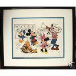 eBay Image 1 LE Sericel At the Studio w/ the Fab 5 Disney Art MIB