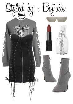 """""""Rih x Anti merch."""" by boijuice on Polyvore featuring Jean-Paul Gaultier, Giuseppe Zanotti, Alexander Wang and NARS Cosmetics"""